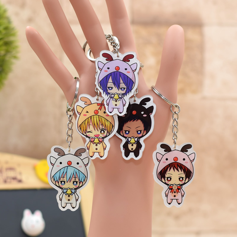 Kuroko no Basket Acrylic Keychain Pendant Car Key Chain Key Accessories Cute Japanese Cartoon Key Ring 7 Styles SS380-386