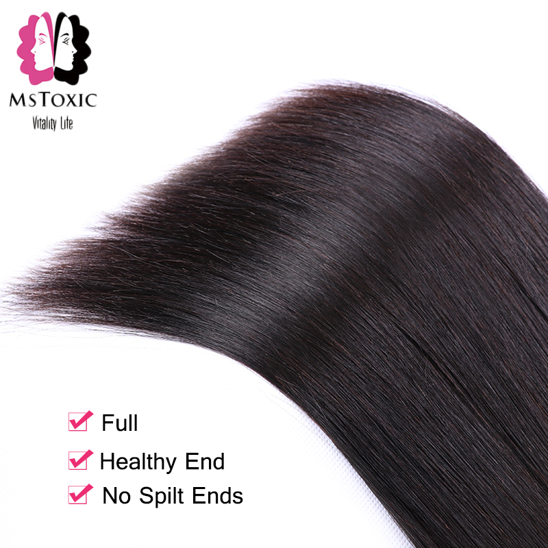 Image 5 - MSTOXIC Brazilian Straight Hair 1/3/4 Bundles 8 28inch 100% Human Hair Bundles Natural Color Remy Hair Weave Extensions-in Hair Weaves from Hair Extensions & Wigs