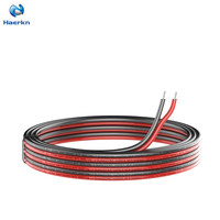 PVC 18awg RGB Extension Cable Wire Cord 2 Conductor Parallel Wire 164ft [Black 82ft Red 82ft] 25M Strands Tinned Copper
