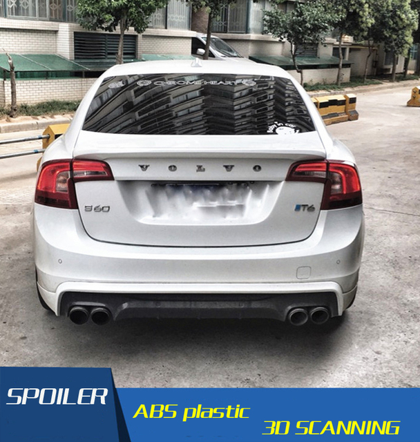 Used 2012 Volvo S60: For Volvo S60 Spoiler High Quality ABS Material Car Rear