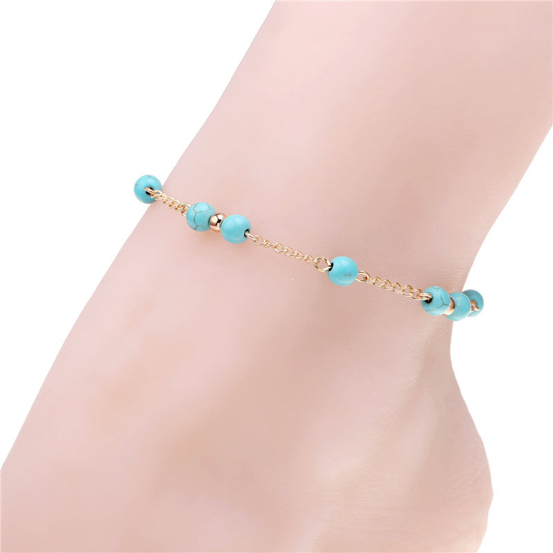 Fashion factory direct gold and silver color anklet pulseras tobilleras mujer barefoot sandals pulseira feminina