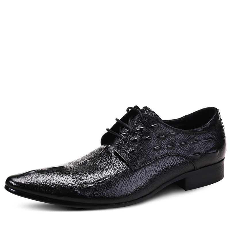 Fashion 2019 Business Mens Pointy Shoes Oxfords Brand Luxury Genuine Leather Crocodile Pattern Men Dress Shoes Chaussures hommesFashion 2019 Business Mens Pointy Shoes Oxfords Brand Luxury Genuine Leather Crocodile Pattern Men Dress Shoes Chaussures hommes