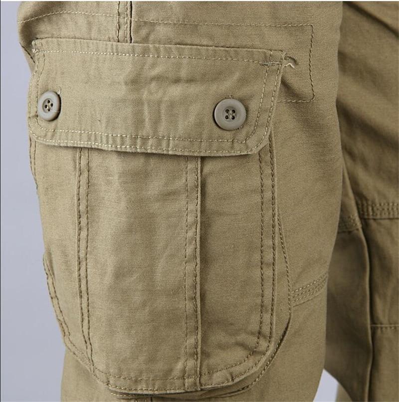 HTB1R7qDavfsK1RjSszgq6yXzpXaU Men's Cargo Pants Mens Casual Multi Pockets Military Large size 44 Tactical Pants Men Outwear Army Straight slacks Long Trousers
