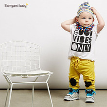 SAMGAMI BABY Heat Summer Style Sports Suit Fashion Baby Boy Clothing Set Soft Breathable Modal Fabric Kids Boys Cotton Suit