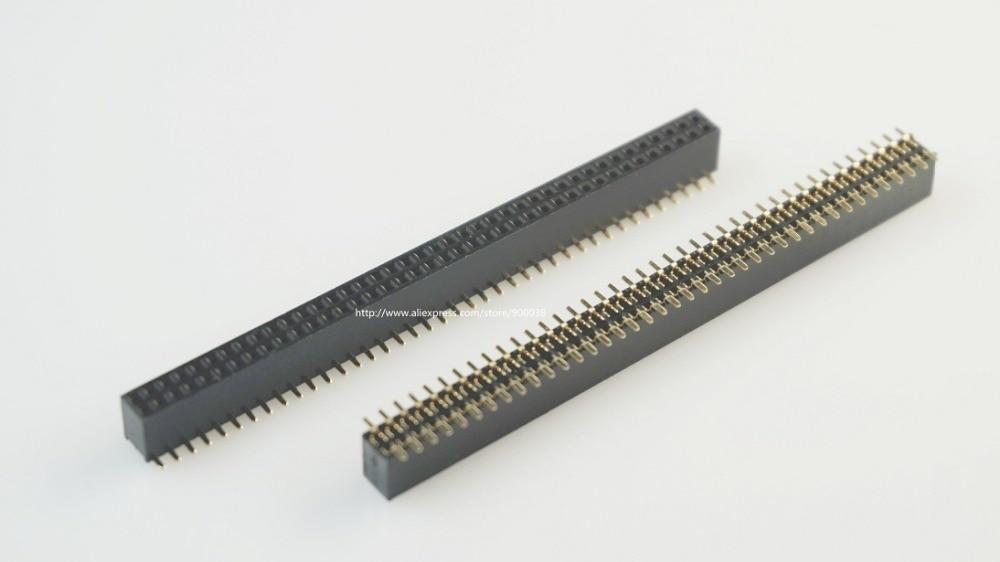 100 sztuk 2x40 P 80 pin 1.27mm Pitch Pin Header kobiet podwójny rząd SMT prosto do montażu na powierzchni PCB Rohs bezołowiowy w Złącza od Lampy i oświetlenie na AliExpress - 11.11_Double 11Singles' Day 1