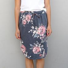 2017 Women Skirts Female Bodycon Skirt Saia Curta Feminino Vintage Floral Printed Causal WS1452X