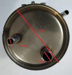 Dozownik do wody części ze stali nierdzewnej gorący wewnątrz zbiornik ogrzewający