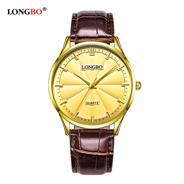 LONGBO Luxury Couple Watch Gifts Simple Design Analog Watches Men Women Waterpro