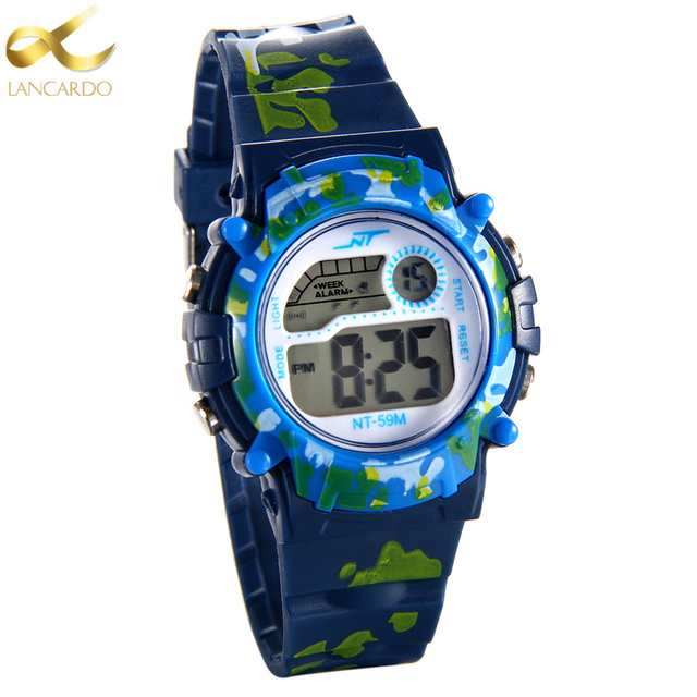 2017 Luxury Brand Lancardo LED Digital Watch Men Waterproof Sports Military Watc