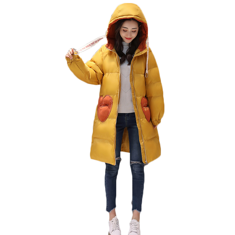 100% Quality Winter Hooded Jackets Womens 2018 New Bread Service Coat Women's Thicken Warm Down Jacket Coat Female Loose Cotton-padded Jacket 100% Guarantee