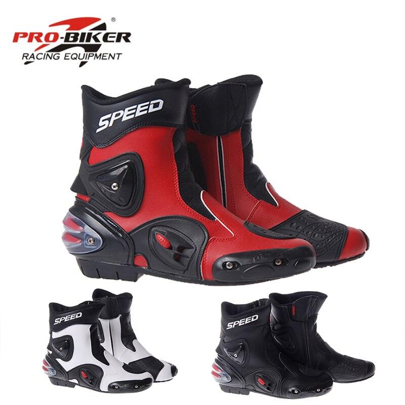 PRO BIKER SPEED BIKERS Motorcycle Racing Boots Motorcycle Riding Boots Men Motocross Off Road Motorbike Boots
