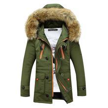 New 2016 Winter Coat Men Parkas Thicking Men Jacket With Fur Hood High Quality Brand Clothing Men Outerwear