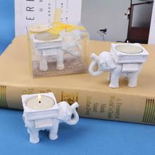 Тема Юго-Восточной Азии Свадебный Гость сувениры вечерние подарок Счастливый Слон Короткий держатель свечей LX1685