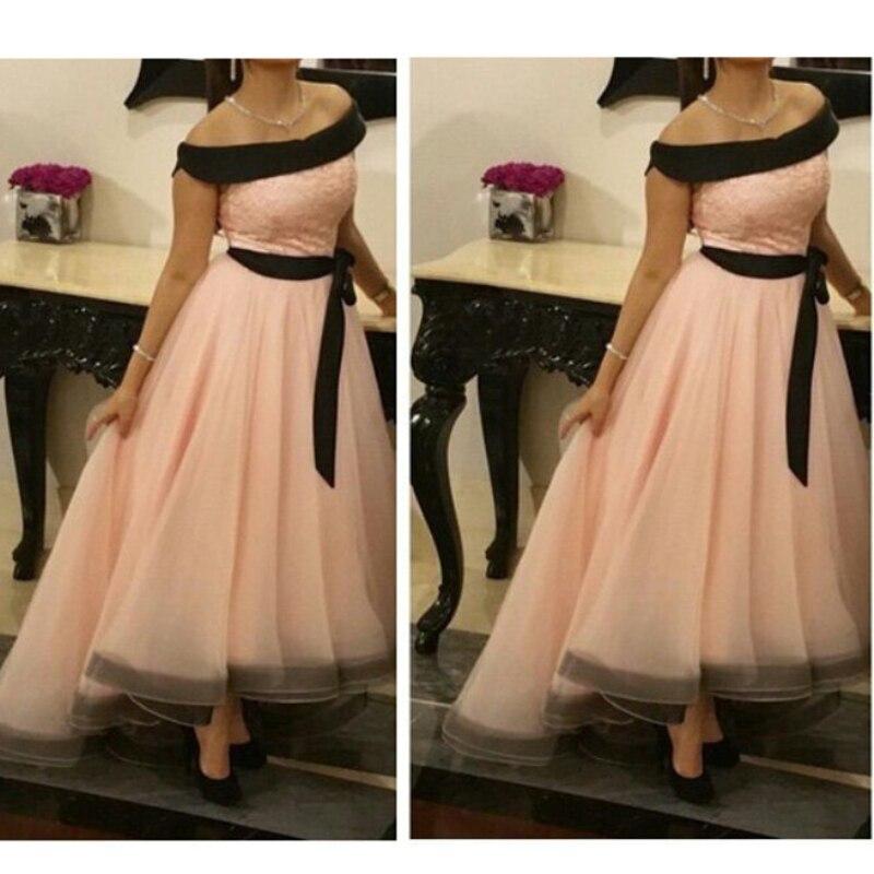 Fashion Organza Satin Saudi Arabia Evening Gown Elegant High/Low Style Prom Gown Custom Made