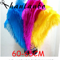 New15pcs/lot 60 65cm ostrich feather plumages 24 26'' Ostrich Feather plumes