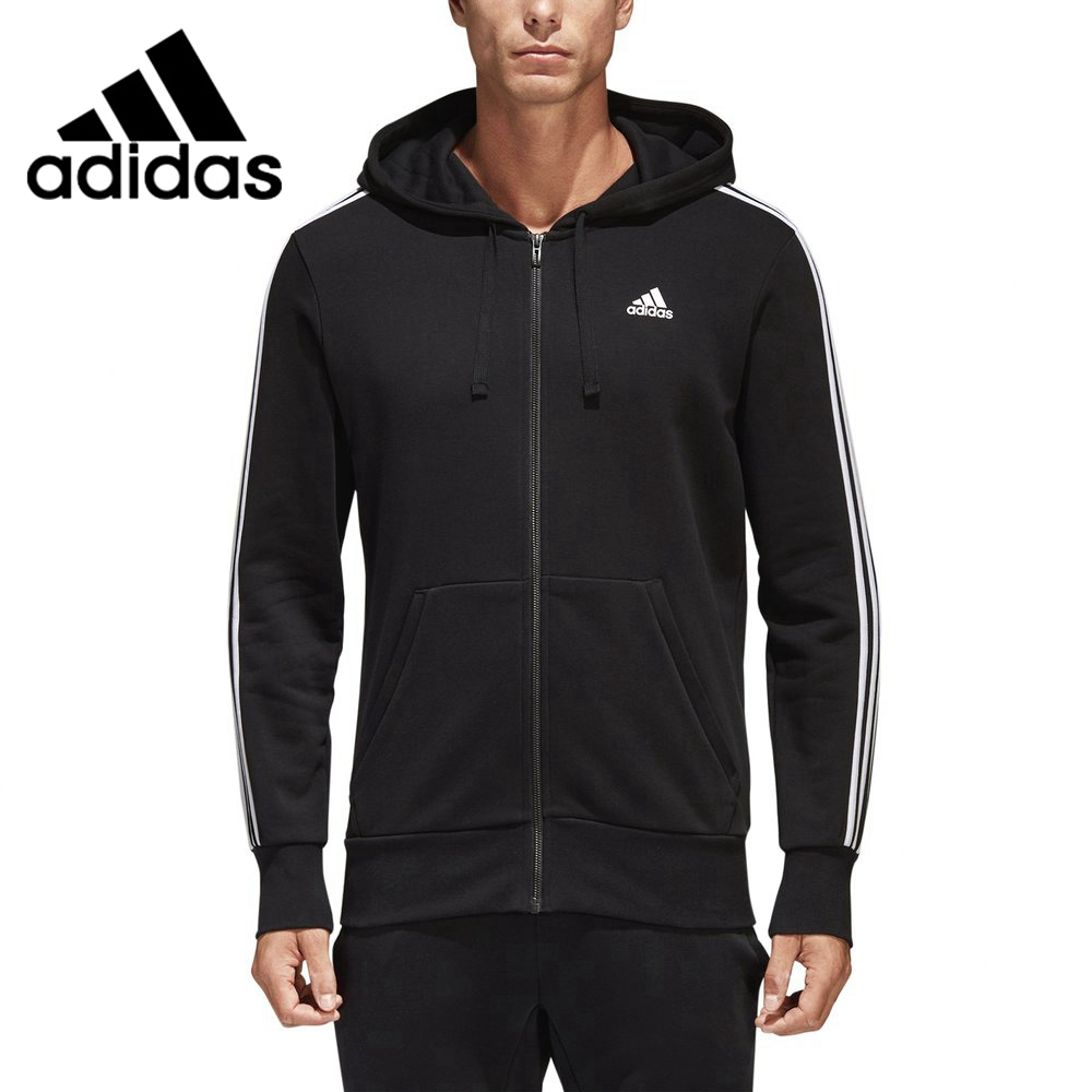 Original New Arrival 2018 Adidas ESS 3S FZ FT Men's jacket Hooded Sportswear adidas new arrival 2017 original originals torsion fz men s jacket hooded sportswear bq3098 bq3099