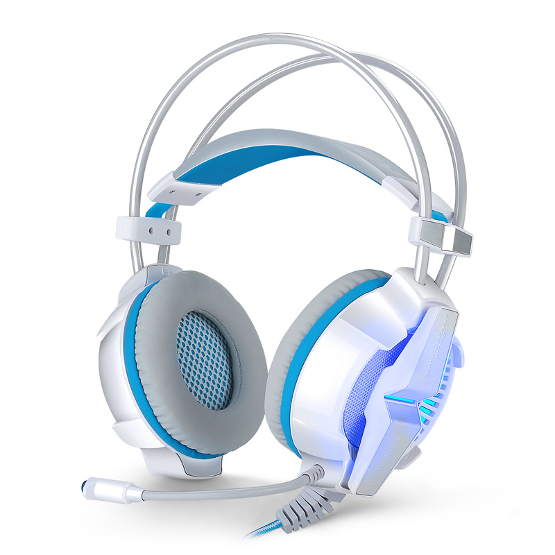 ФОТО KOTION EACH G7000 Gaming Headphones Vibration Breathing LED Light Game Headset Microphone Surround 7.1 Sound PC Gamer