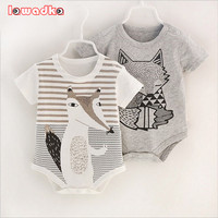 100 Cotton Short Sleeve Baby Rompers Print Newborn Infant Clothing Toddler Boy Girls Jumpsuits Bebe