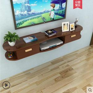 Image 3 - Wall shelf living room film and television background wall creative lattice room wall without perforation wall hanging cabinet d