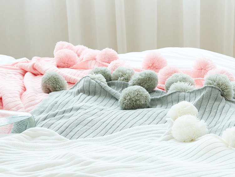 Romantic Infant Knit Fairy Dreaming Blanket Nordic Stripe Ball Cotton Blanket Sofa Bedding Decorative Throw Gift золотое кольцо ювелирное изделие a1006808074