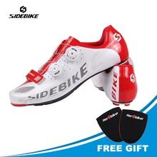 SIDEBIKE Road Bike Shoes Self-locking Ride Bicycle Shoes Carbon Lightweight  Highway Lock Cycling Shoes Road Cycling Shoes Man