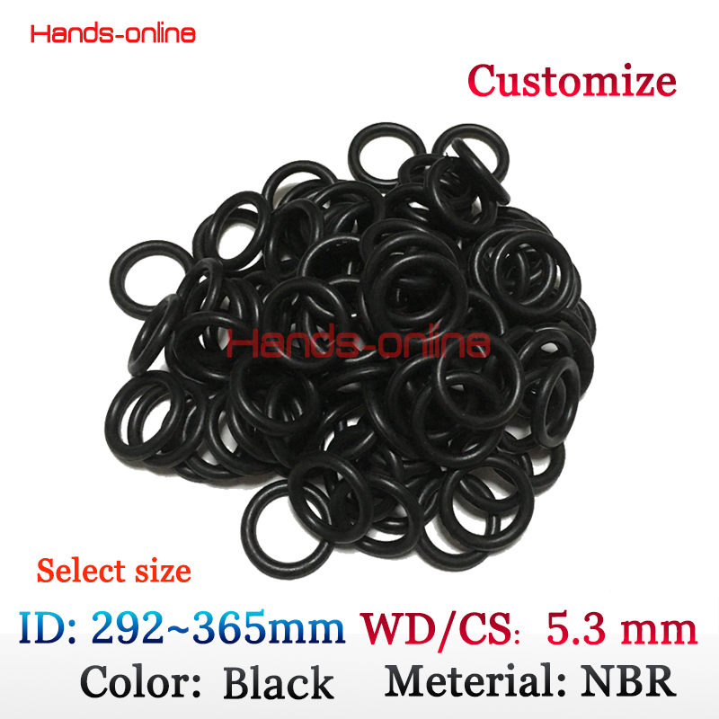 ID 292 300 304 307 315 325 330 335 345 355 365mm O Ring Rubber Seal Gasket W/C 5.3mm CS