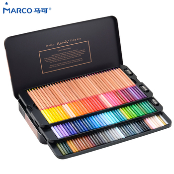Marco Reffine 24/36/48Colors Oil Color Pencil Prismacolor Wood Colored Pencils for Artist Sketch Drawing School Office Supplies - discount item  23% OFF Pens, Pencils & Writing Supplies