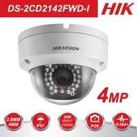 In Lager HIK CCTV Kamera DS-2CD2142FWD-I ersetzen DS-2CD3145F-IS DS-2CD3145F-I, DS-2CD2132-I 4MP Dome Netzwerk IP Kamera