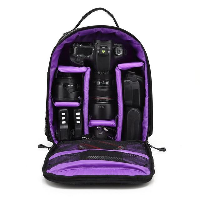 Upgrade Waterproof multi-functional Digital DSLR Camera Video Bag w/ Rain Cover Small SLR Camera Bag PE Padded for Photographer