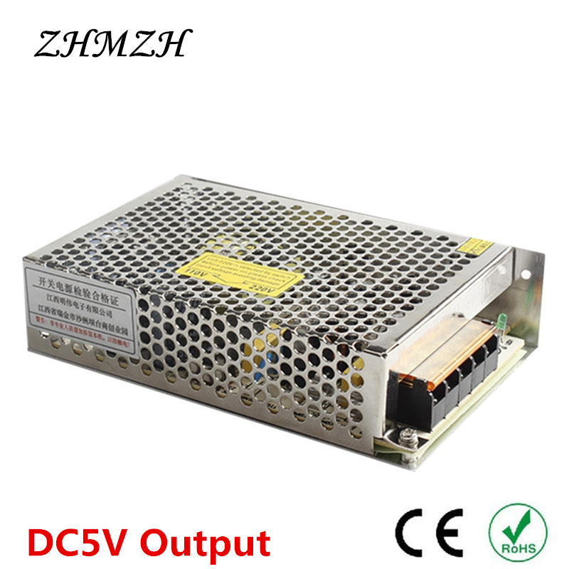 High Quality 110V 220V Input Switching Power Supply DC5V Output Constant Voltage DC Source Lighting Transformers LED Driver CE kvp 24200 td 24v 200w triac dimmable constant voltage led driver ac90 130v ac170 265v input