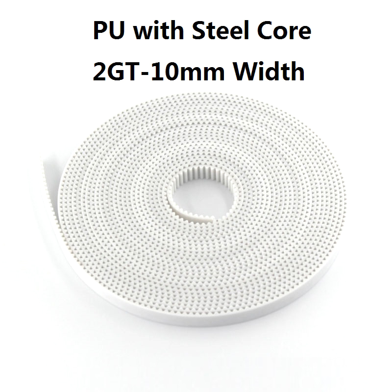 Pu With Steel Core Gt2 Belt 2Gt Timing Belt Width 6Mm 10M For 3D Printer Parts Anti Wear Reinforce Open Belt in 3D Printer Parts Accessories from Computer Office