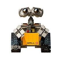 فكرة روبوت جدار E اللبنات الطوب كتل لعب للأطفال WALL E كتلة هدايا عيد الميلاد للأطفال|حواجز|الألعاب والهوايات -