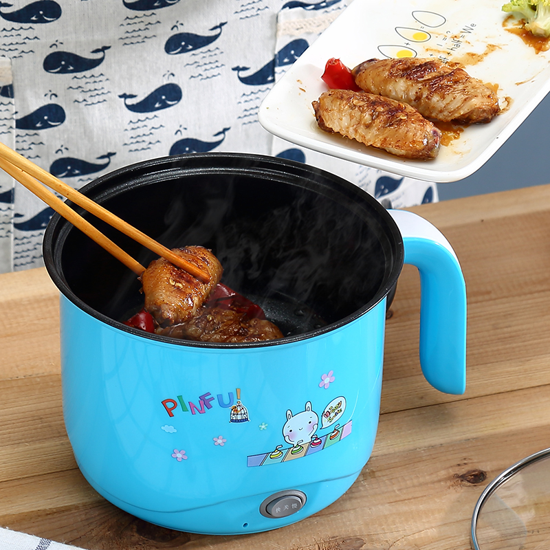лучшая цена Multifunctional Electric 220V Cooking Pot Non-stick Hot Pot Household Electric Cooking Machine EU/AU/UK Frying Pot