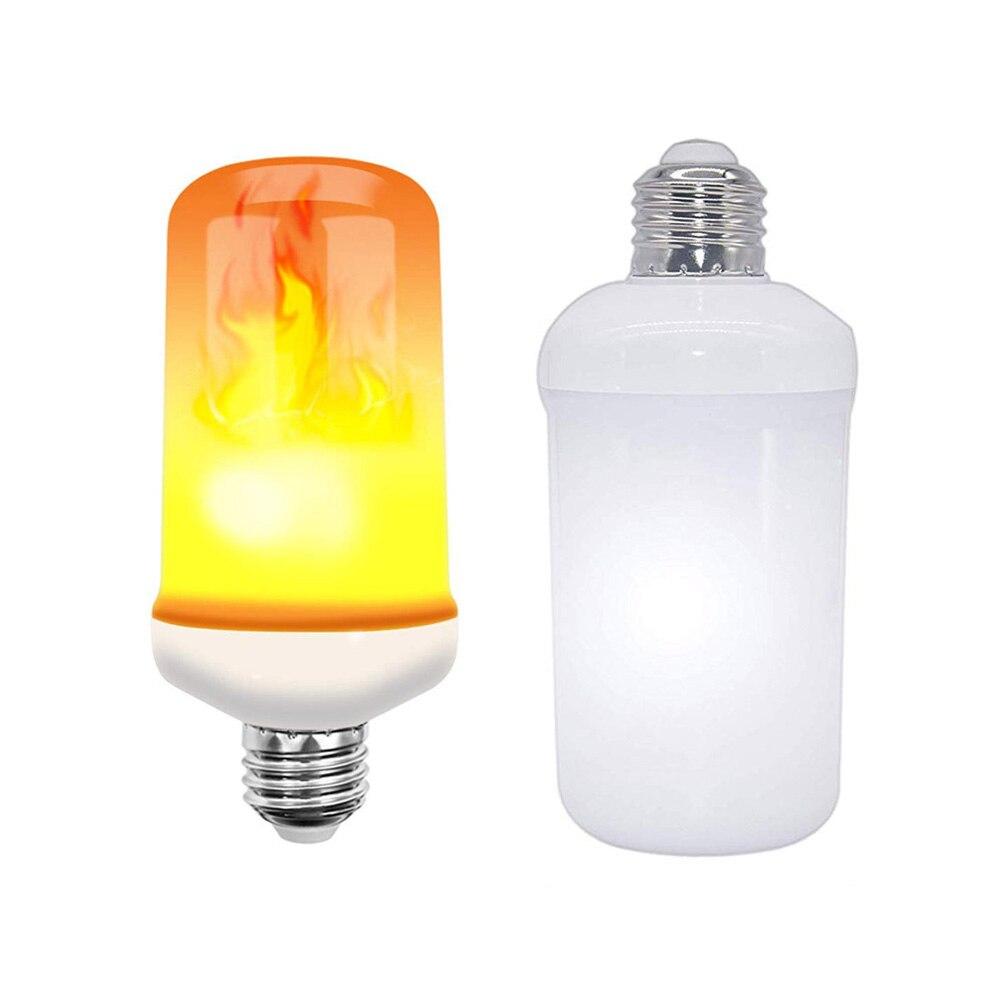 New Design 4 Modes B22/E27/E14 110V 220V LED Flame Bulb Upside Down Effect Simulated Decorative Vintage Atmosphere Lighting Lamp