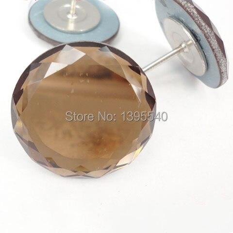 Creatief Nieuwe 30mm Kristalglas Knop Voor Sofa Industrie Decoratie Ingediend Zachte Tawny Crystal Knop Ktv Muur Decoratieve Gesp