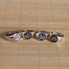 Silver jewelry Europe and the United States men and women General Ms, four animal silver ring
