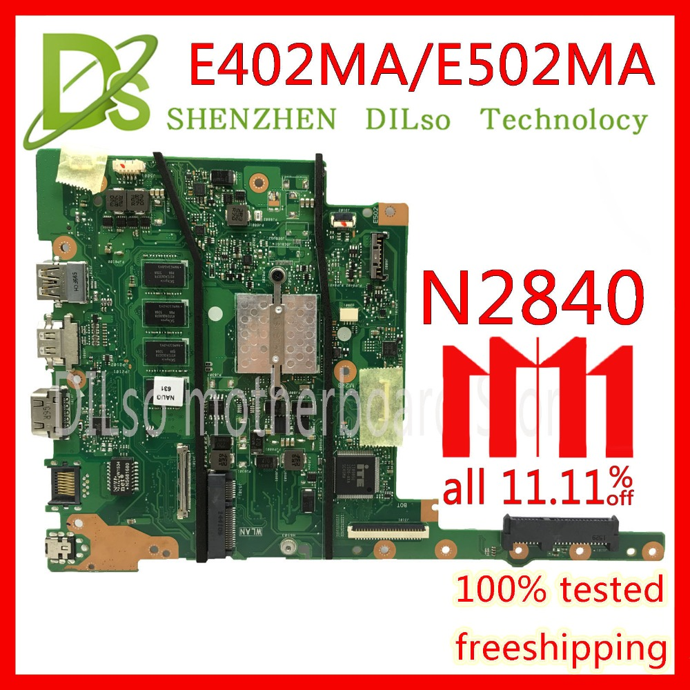 все цены на KEFU E402MA For ASUS E402MA E502MA Laptop motherboard N2840U 2G/4G mainboard REV2.0 integrated cpu onboard work 100% Test онлайн