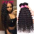 Realove Hair 7A Brazilian Deep Wave 3 Bundles Best Brazilian Deep Curly Virgin Hair Top Quality Deep Wave Virgin Brazilian Hair
