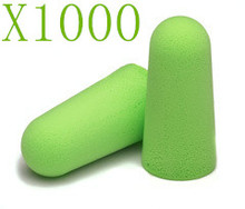 1000 X PCS SOFT FOAM EARPLUG GREEN PROTECTOR EAR PLUGS