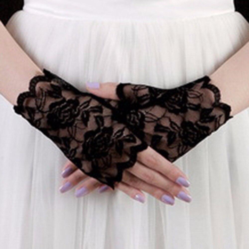 Fingerless gloves for sun protection - Wrist Flower Lace Hollow Out Elegant Women Girls Gloves Fingerless Sun Protection Accessories China
