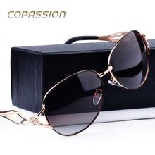 2017 HD polarizado gafas de sol de mujer de marca de diseño de Diamantes de Metal Marco uv400 gafas de sol de pesca vidrios del conductor gafas de sol mujer