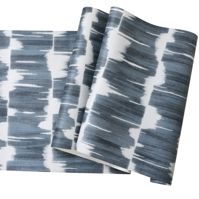 Купить с кэшбэком Geometric Wall Papers Home Decor for  Living Room Walls  Mural Blue Grey Wallpaper Roll for Bedroom Decoration papier peint