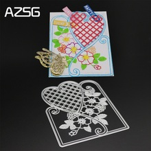AZSG Love border Metal Cutting Mold DIY Scrapbook Album Decoration Supplies Clear Stamp Paper Card