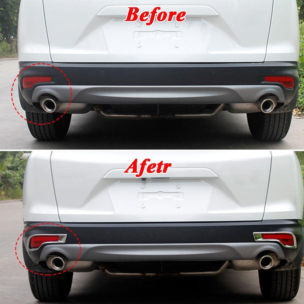 Car ABS Outside Chromium Styling Rear Bumper Fog Light