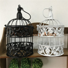 H25cm,European wrought iron hollow wedding bird cage, shopping mall window decoration, props, creative gifts