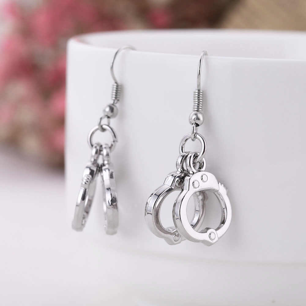 Skyrim Handcuffs Earring Female Ethnic Party Small Dangling Earrings  Findings diy Craft For Women Jewelry Making
