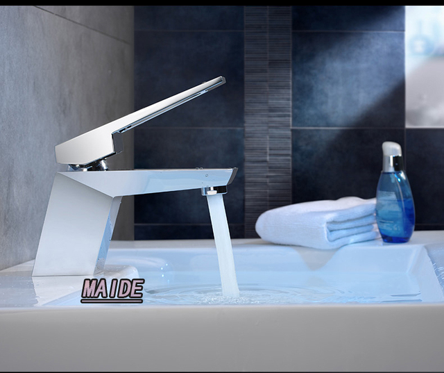 Unique Design High Quality Solid Brass Chrome Hot/Cold Mixer Water Tap Basin  Kitchen Bathroom