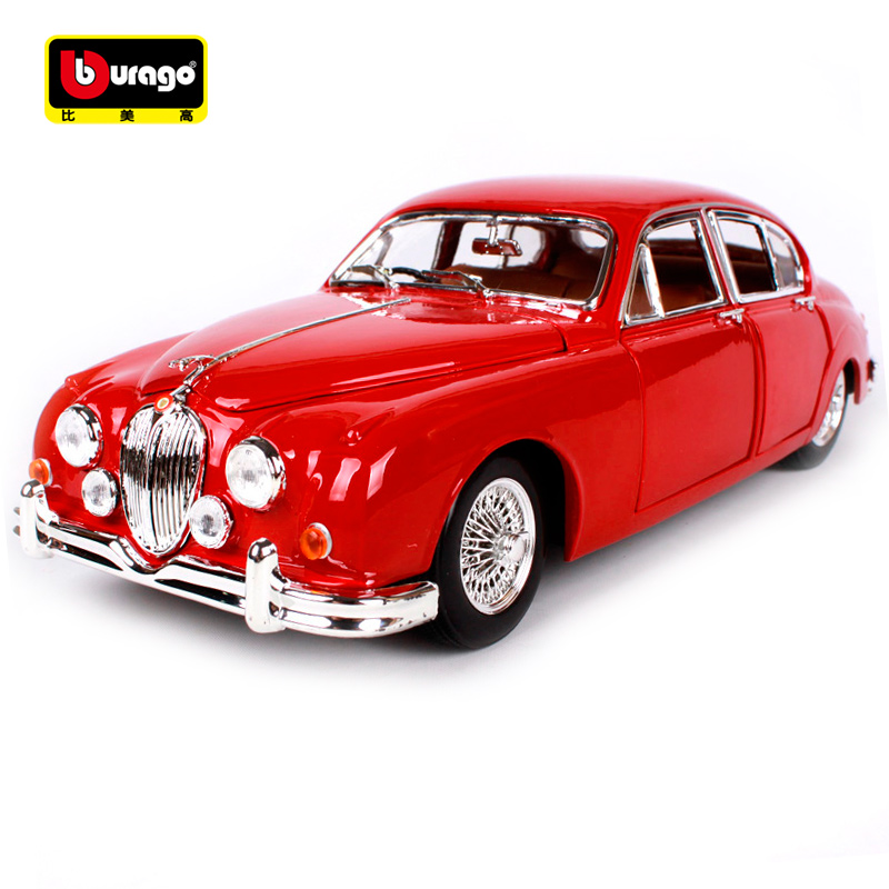 Bburago 1:18 1959 Jaguar Mark II Car model Retro Classic Car Diecast Model Car Toy New In Box Free Shipping 12009 bburago 1 18 458 alloy supercar model favorites model