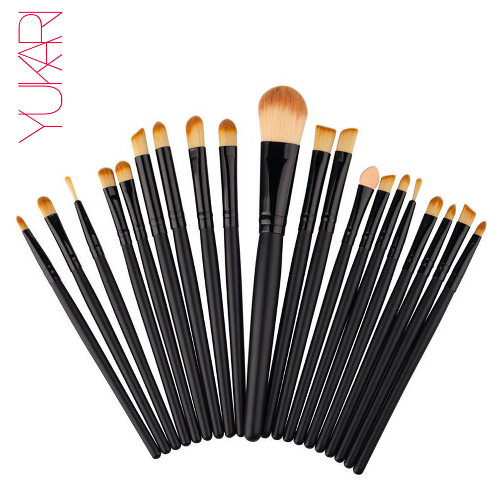 YUKARI 20pcs Make up Brush Set kwasten Make Up Beauty Blush De maquiagem Cosmetics Toiletry Kit Tools eye lips make up Brush лосьон ga de soothing eye make up remover