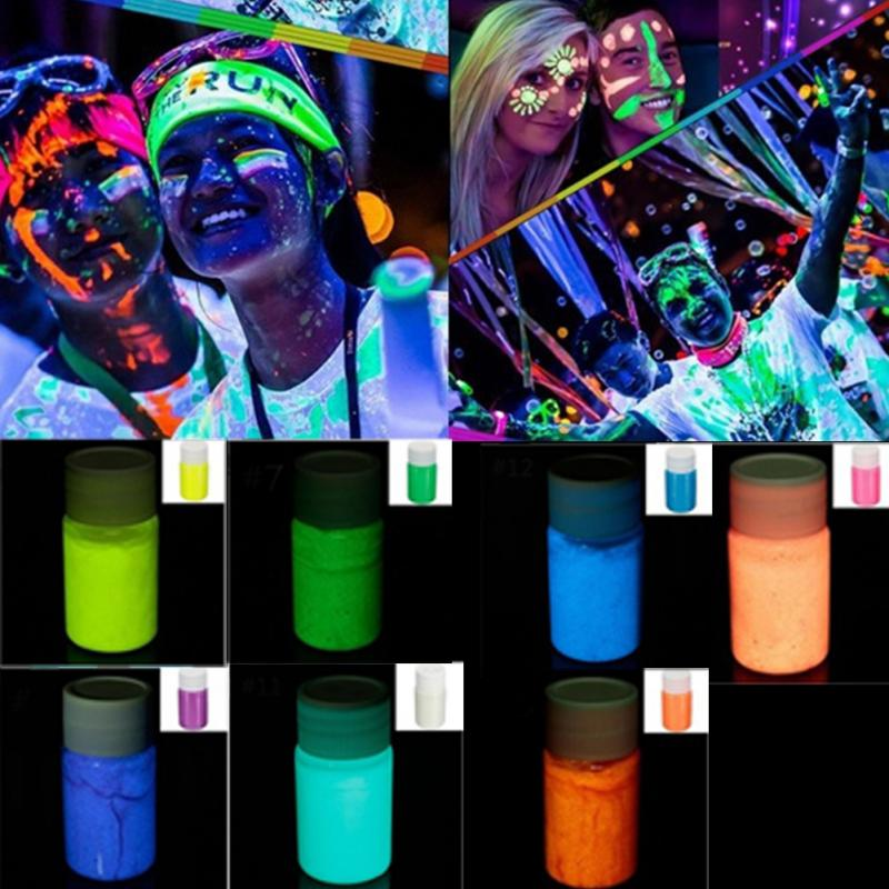 Neon Fluorescent Body Paint In The Dark Face Painting Color Luminous Flash Art Glowing Paint For Party Halloween Makeup #926 New